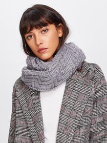 Bufanda de punto con costura