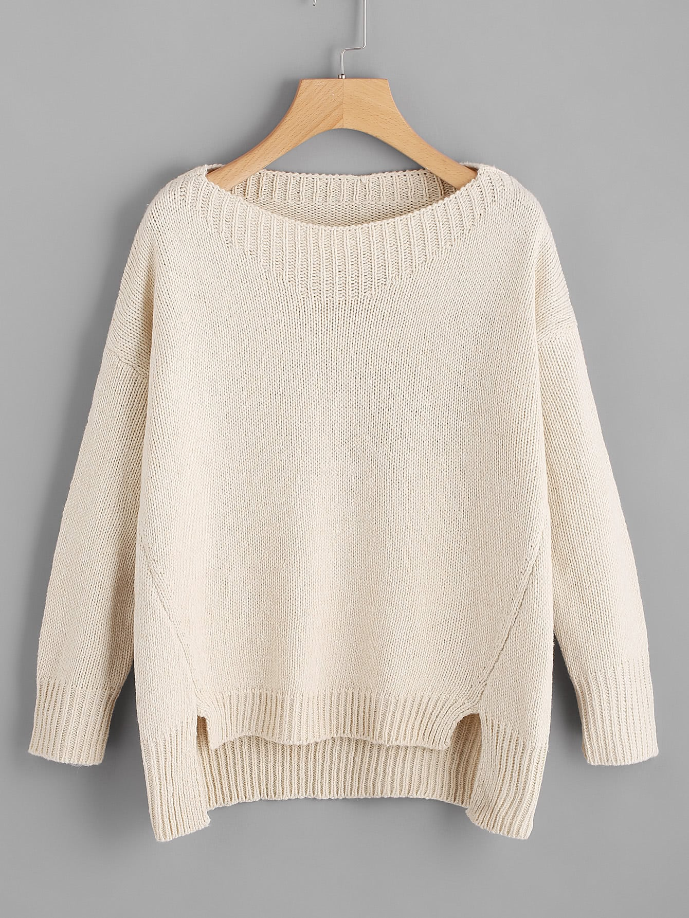 цены Raw Cut Dip Hem Sweater