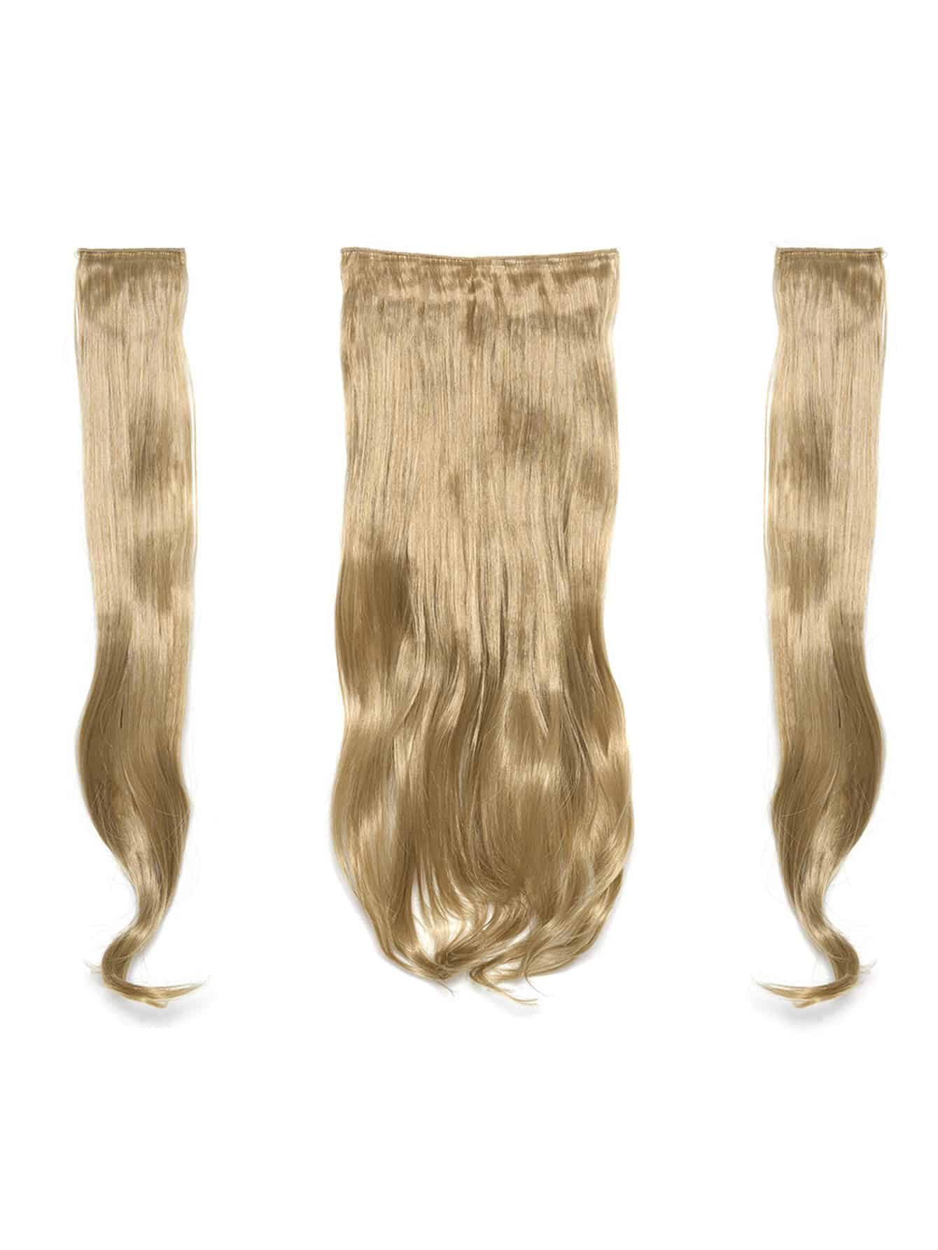Honey Blonde Clip In Soft Wave Hair Extension 3pcs lovely soft germination clip to candy fruit a word clip children s hair accessories