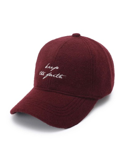 Embroidered Slogan Baseball Cap
