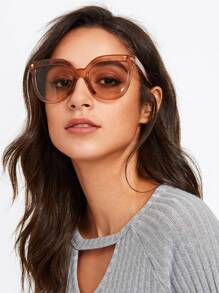 Oversized Tinted Lens Sunglasses