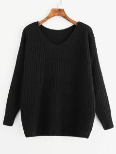 Drop Shoulder Oversize Sweater