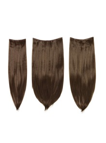 Chestnut Clip In Straight Hair Extension 3pcs