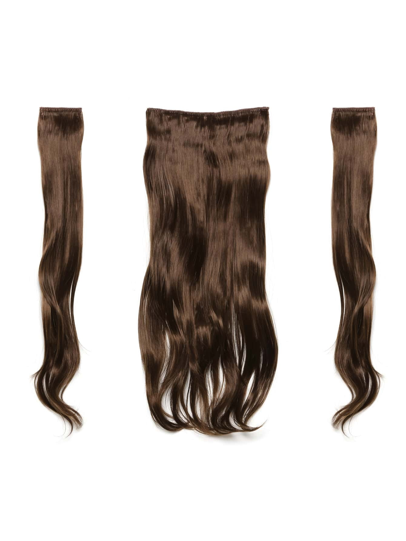 цена на Chestnut Clip In Soft Wave Hair Extension 3pcs