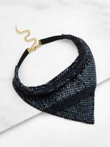 Sequin Overlay Triangle Design Choker
