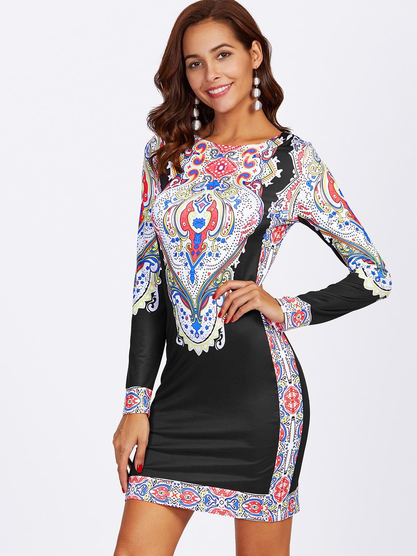 Ornate Print Slim Fit Dress футболка wearcraft premium slim fit printio шварц