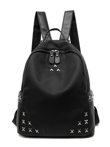 Metal Embellished Backpack