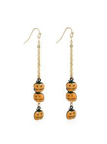 Pumpkin Design Drop Earrings