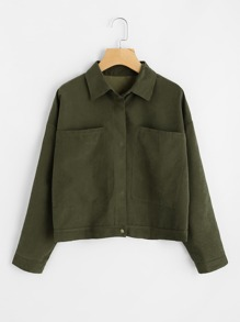 Dual Pocket Drop Shoulder Jacket