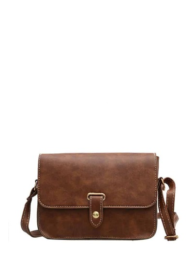 Buckle Flap Shoulder Bag