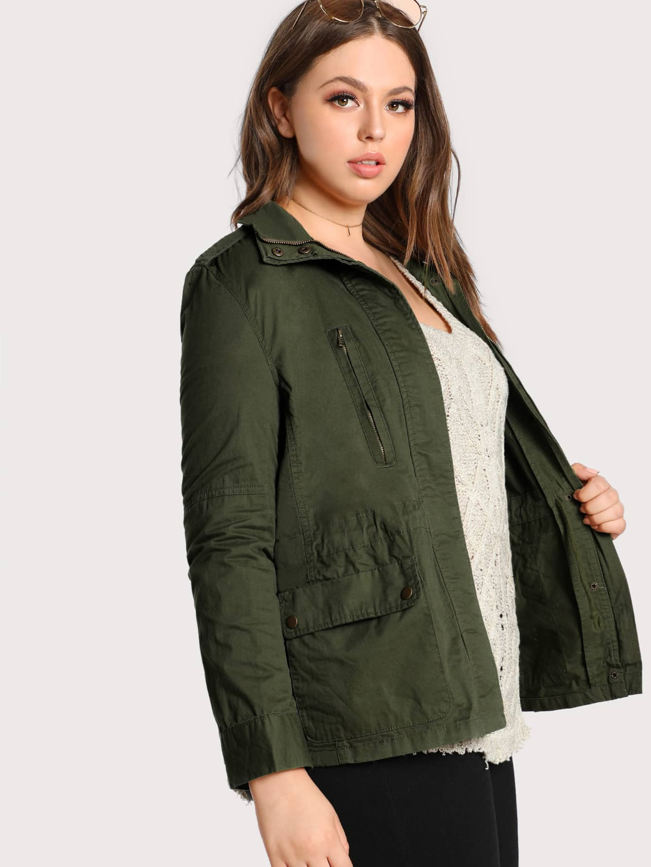 Image of Flap Pocket Front Utility Jacket