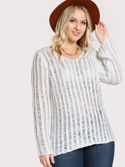 Knitted Long Sleeve Sweater IVORY