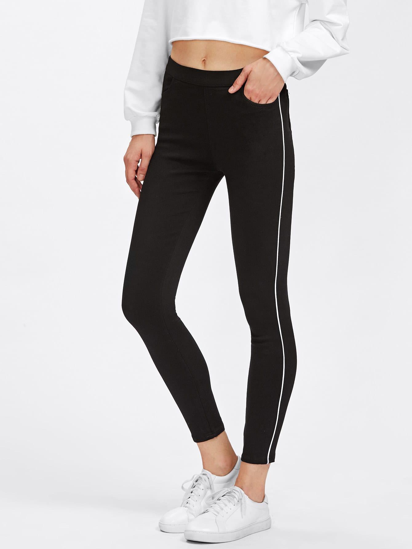 Image of Contrast Stripe Pants