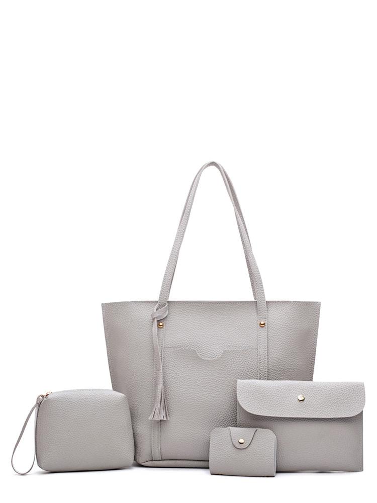 4 Pcs Tassel Bags Set