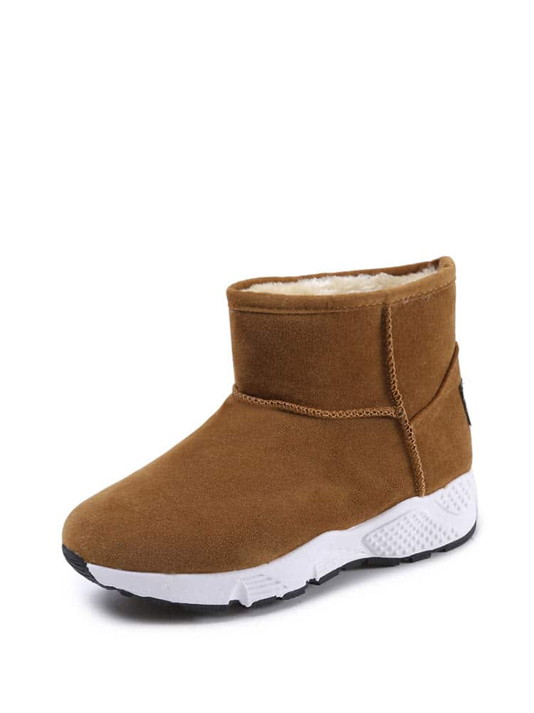 Suede Faux Fur Lined Snow Boots lady s suede snow boots