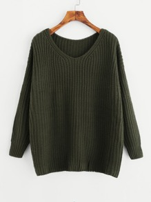 Drop Shoulder Oversize Sweater