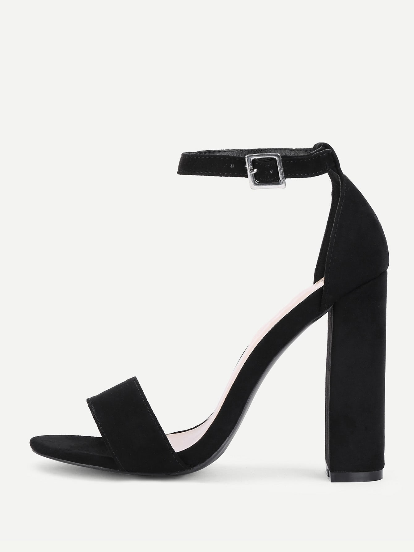 Two Part Ankle Strap Block Heeled Pumps benacquista t malavita encore