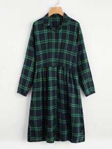 Tartan Plaid Shirt Dress
