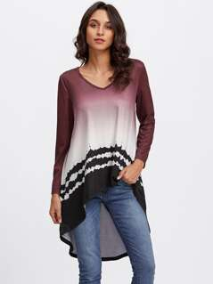 High Low Ombre T-shirt