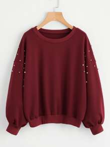 Pearl Beaded Sweatshirt