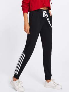 Striped Side Sweatpants
