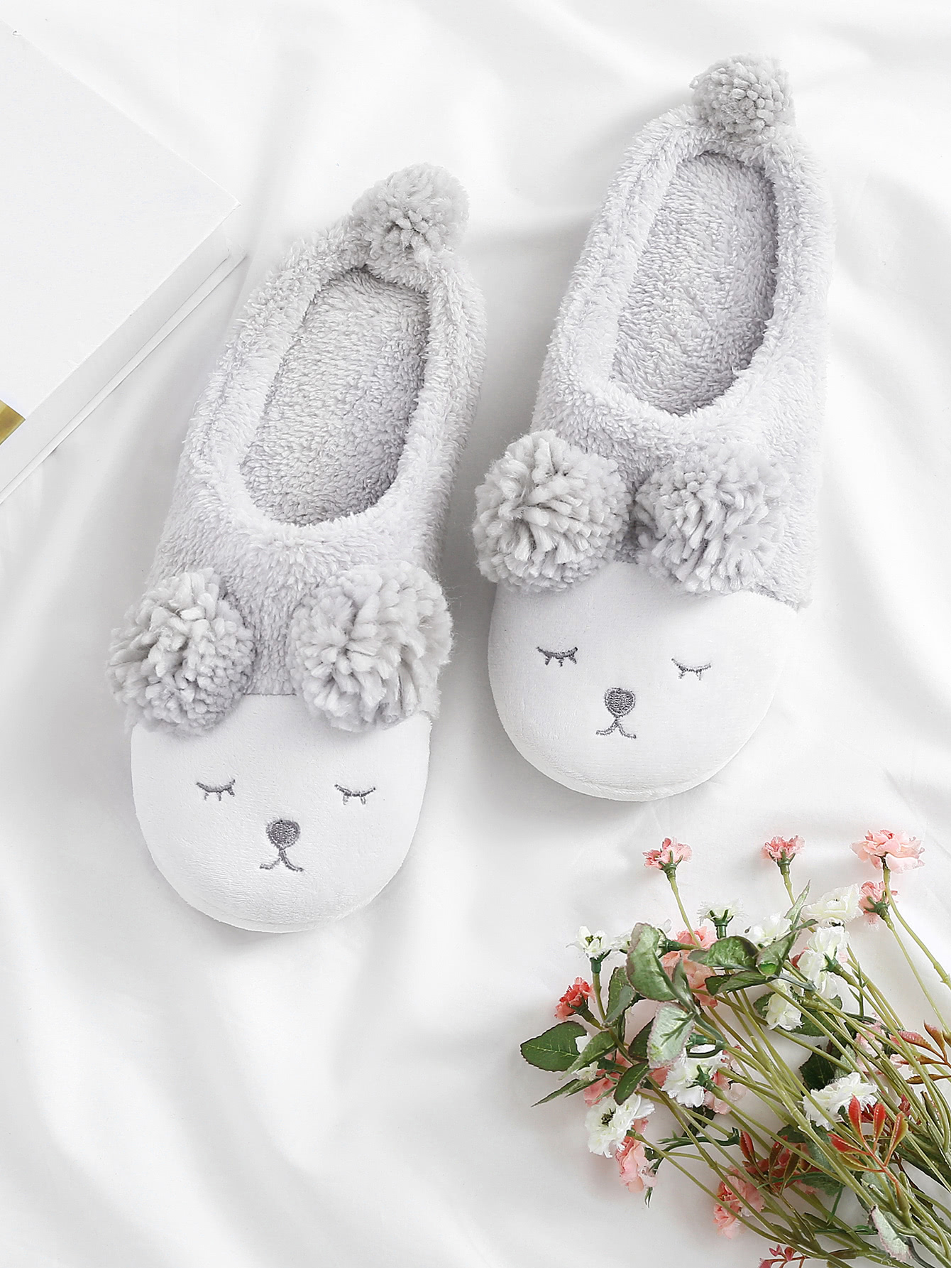 Image of Critter Faux Fur Slippers