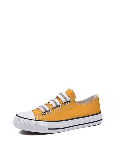 Elastic Straps Low Top Plimsolls