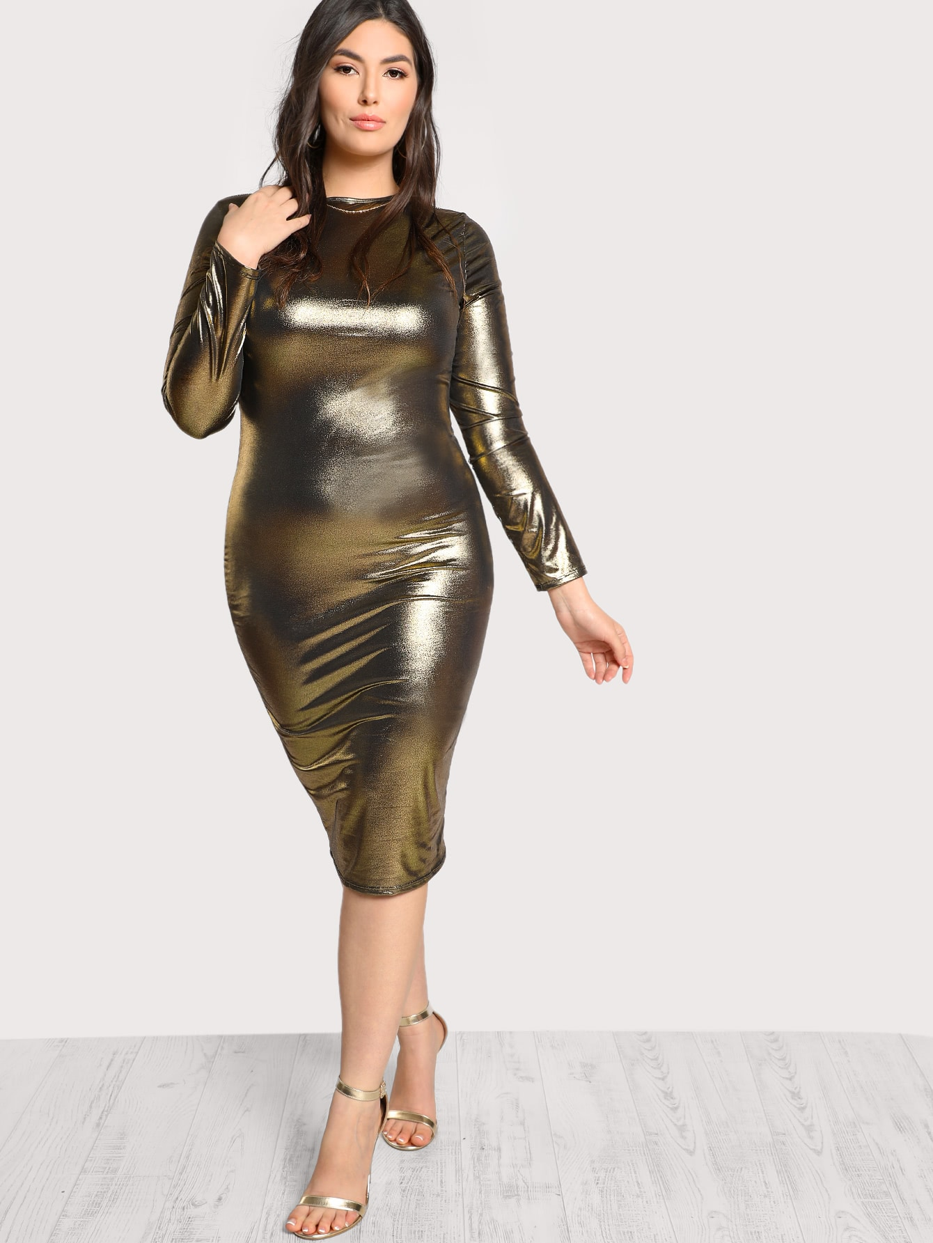 Metallic Form Fitting Dress