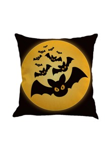 Bat Print Pillowcase Cover