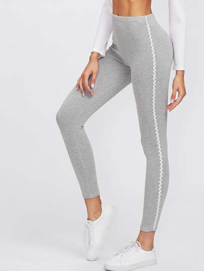 Leggings bicolore côté