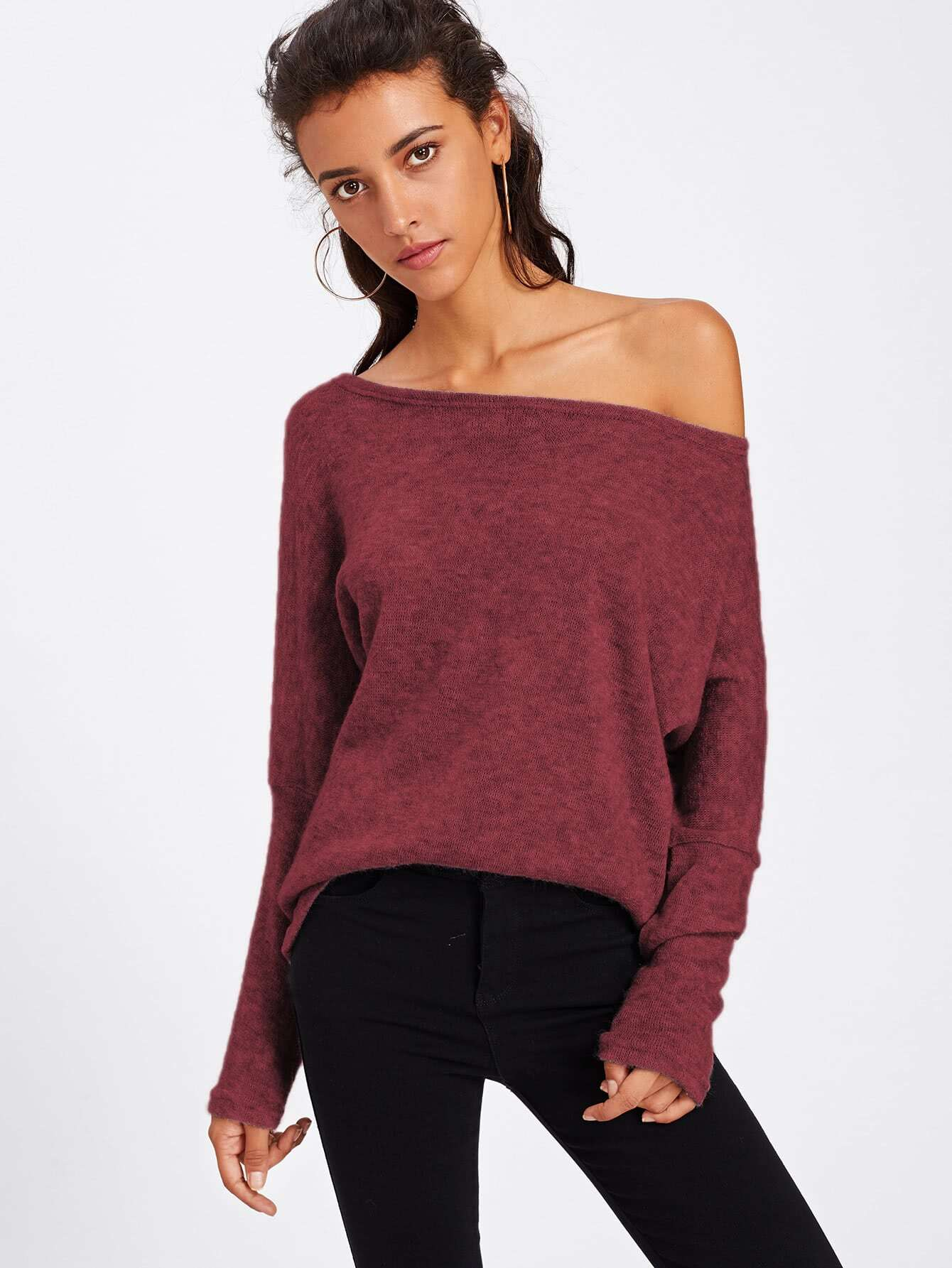 Batwing Sleeve Sweater