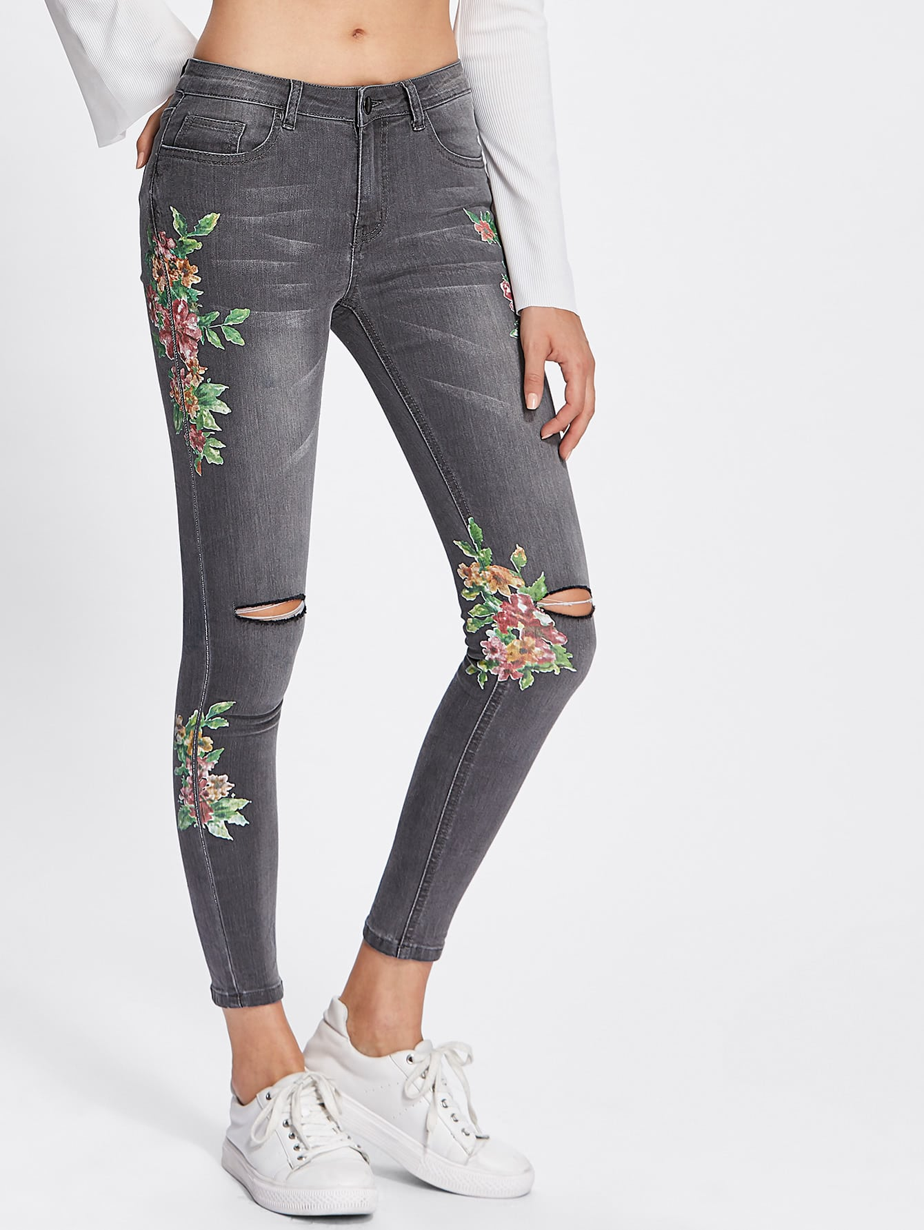 jeans zerrissen flicken super jeans in dieser saison. Black Bedroom Furniture Sets. Home Design Ideas