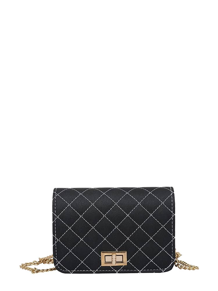 Quilted Flap Crossbody Bag With Chain mini gray shaggy deer pvc quilted chain bag with cover real picture