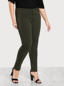 Mid Rise Skinny Jeans GREEN