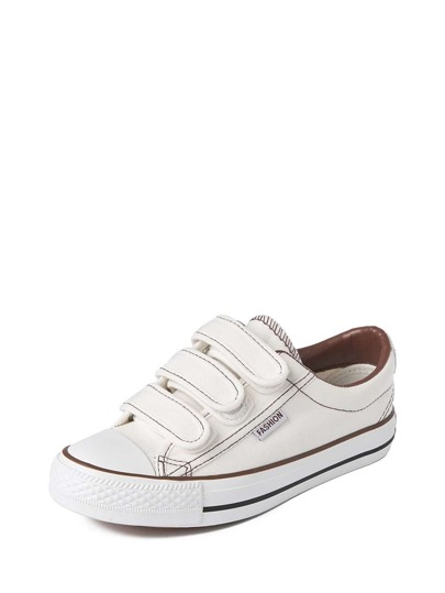 Velcro Low Top Slip On Plimsolls