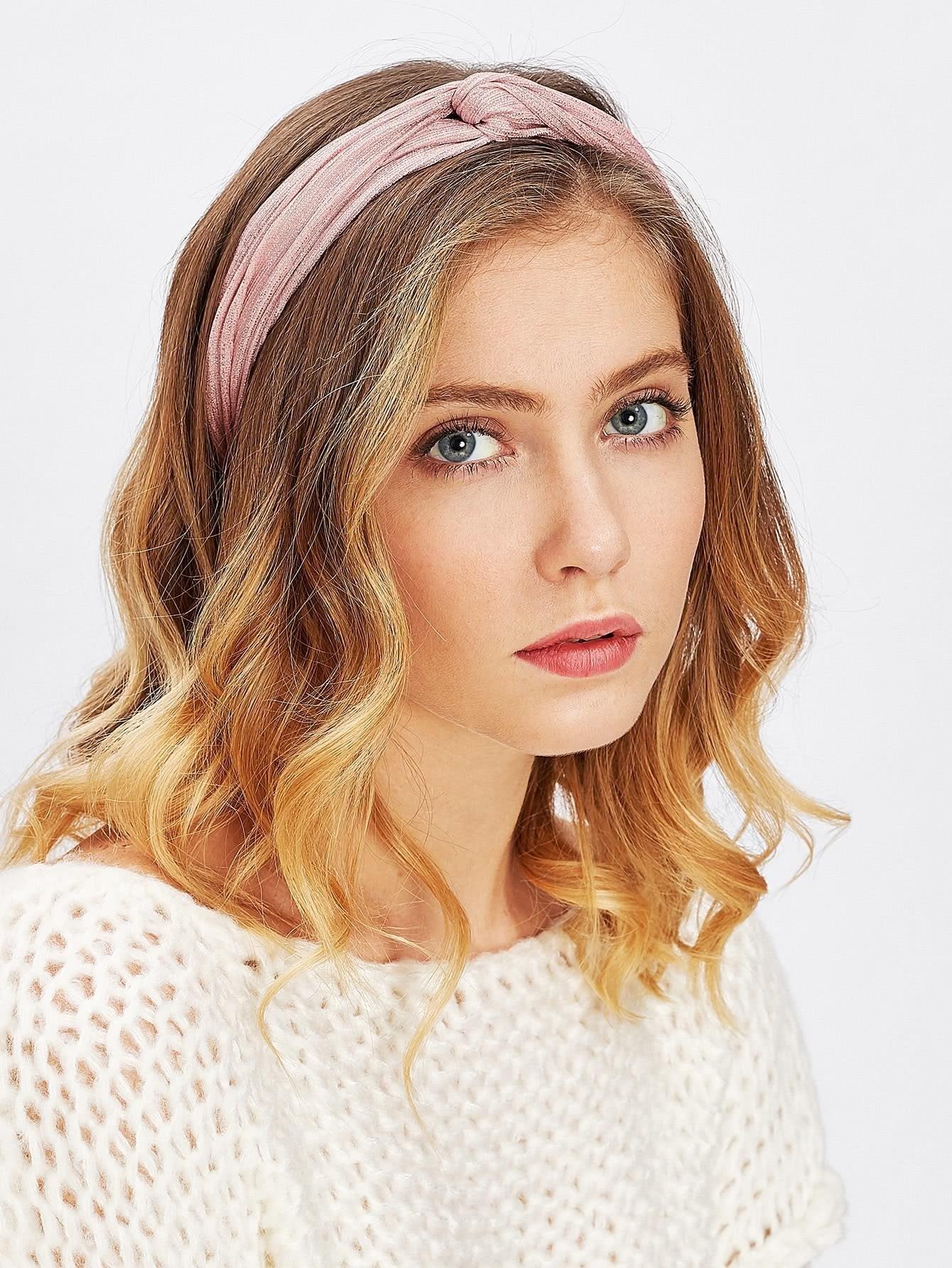 Glitter Twist Headband rib twist headband