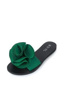Flower Decor Slip On Sandals