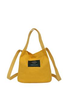 Simple Canvas Bucket Bag