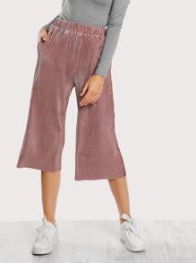 Pantalons avec jambe gros en velvet