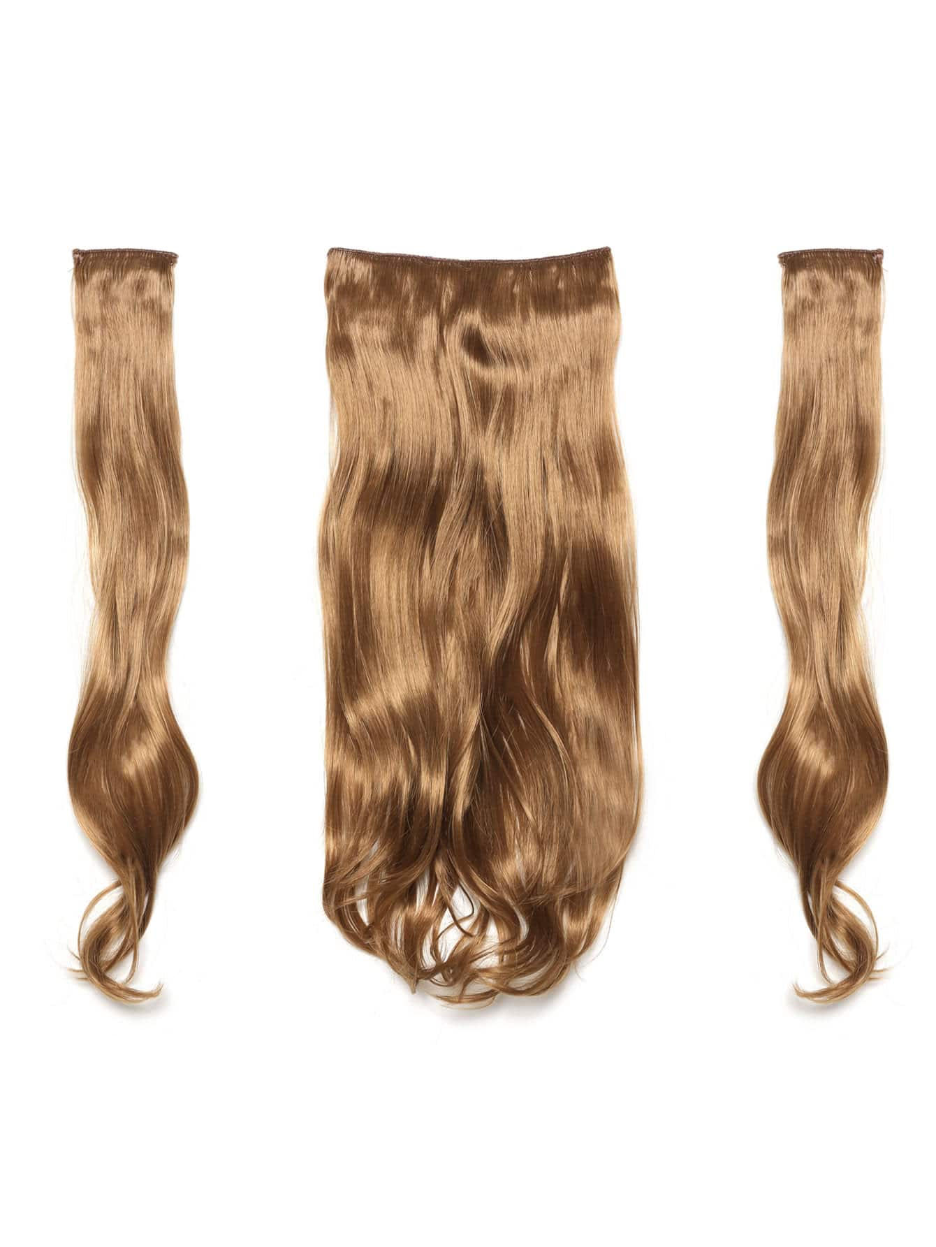 цена на Mix Auburn Clip In Soft Wave Hair Extension 3pcs