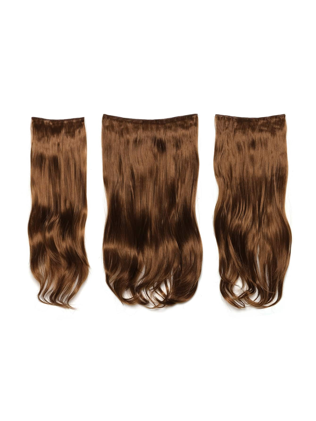 Golden Brown Clip In Soft Wave Hair Extension 3pcs globe panther golden brown fur