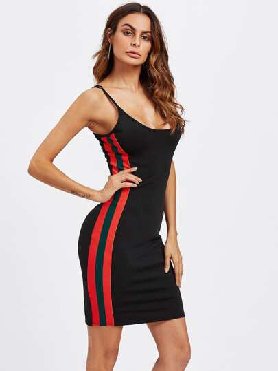 Side Striped Cami Dress