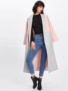 Two Tone Notch Collar Coat