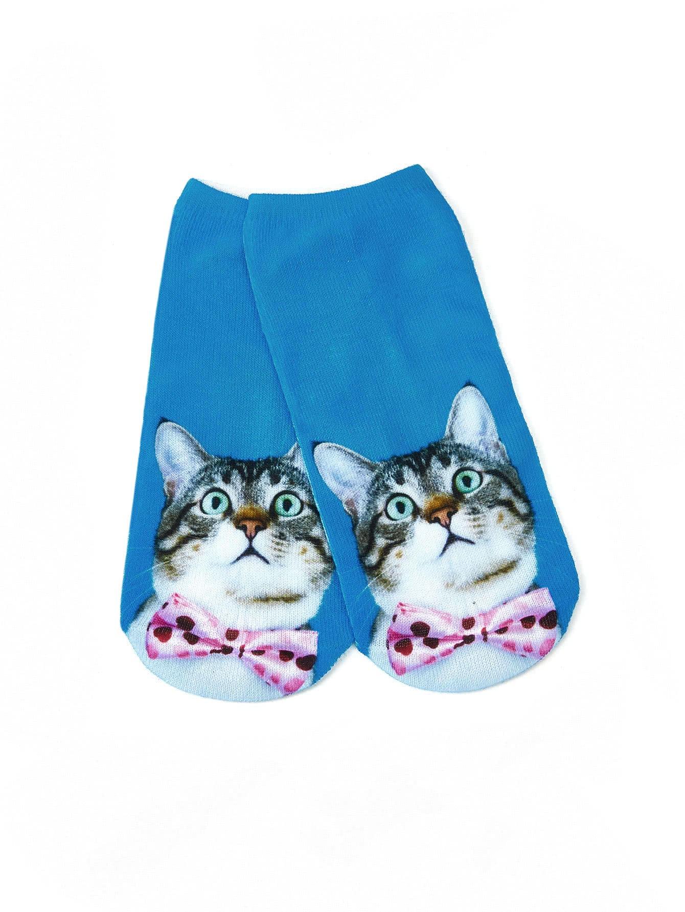 Cat Print Socks