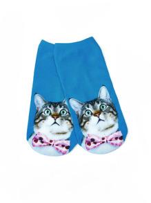 Calzini con stampa di gatto