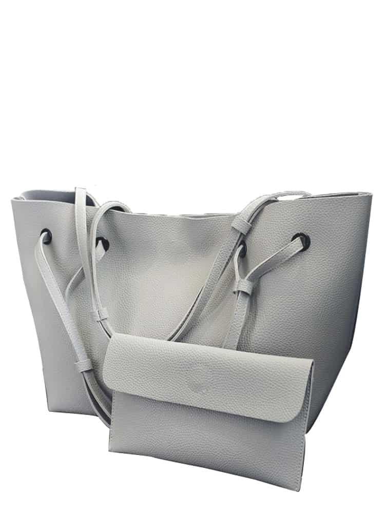 2 Pcs Tote Match Clutch Bags Set