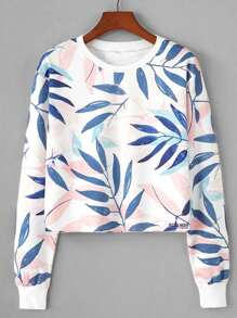 Leaf Print Sweatshirt