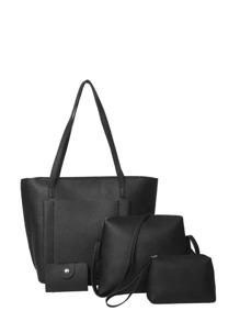 اربع حقائب ظهر لون أسود