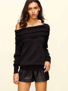 Raglan Sleeve Two Way Sweater