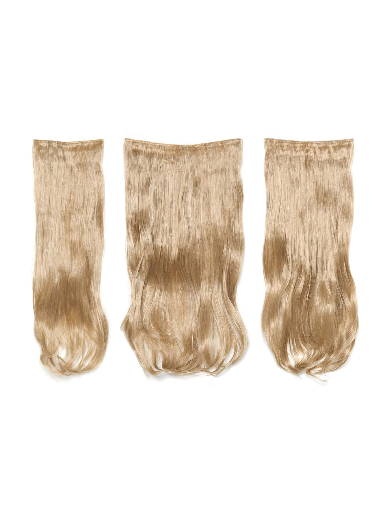 Champagne Blonde Clip In Soft Wave Hair Extension 3pcs lovely soft germination clip to candy fruit a word clip children s hair accessories